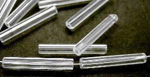 Best.Nr.:48046 Glasperlen Stäbchen fünfkantig kristall
