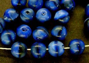 Best.Nr.:22418 Glasperlen blau schwarz meliert