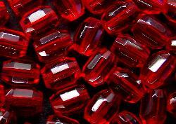 Best.Nr.:27360 facettierte Glasperlen  Olive rot Um 1950/60 in Gablonz/ Böhmen hergestellt