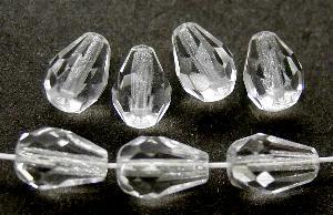 Best.Nr.:27553 facettierte Glasperlen Tropfen kristall