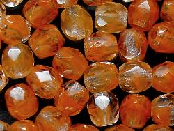 Best.Nr.:27125 facettierte Glasperlen  Zweifarbenglas kristall braun
