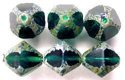 Best.Nr.:27391  geschliffene Glasperlen  Multi Cut Beads  mit picasso finish