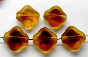 Best.Nr.:67838 Glasperlen / Table Cut Beads geschliffen topas Rand mattiert (frostet)
