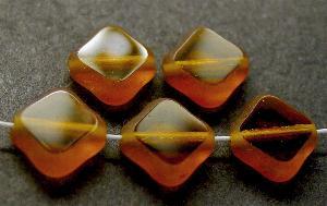 Best.Nr.:67906 Glasperlen / Table Cut Beads geschliffen topas Rand mattiert (frostet)