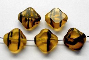 Best.Nr.:67649 Glasperlen / Table Cut Beads geschliffen Rand mattiert (frostet)