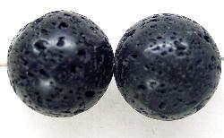 Best.Nr.:65-5618  Steinperlen rund  aus Black Lava