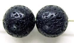 Best.Nr.:65-5624 Steinperlen rund aus Black Lava