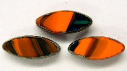 Best.Nr.:67119  Glasperlen / Table Cut Beads  geschliffen  mit picasso finish, hergestellt in Gablonz / Tschechien