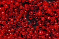 Best.Nr.:61097  Rocailles um 1920 in Böhmen hergestellt  rot transparent