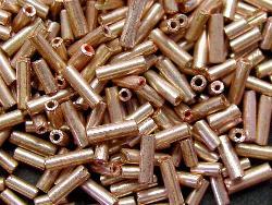 Best.Nr.:63124  Glasperlen in den 1920/30 Jahren in Gablonz/Böhmen hergestellt  Stiftperlen metallic
