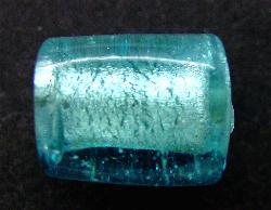 Best.Nr.:64091  handgefertigte Lampenperle mit eingearbeiteter Silberfolie