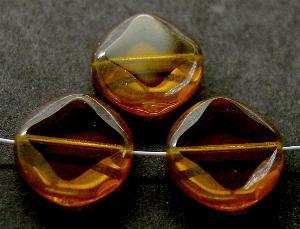 Best.Nr.:67797 Glasperlen / Table Cut Beads geschliffen topas mit lüster