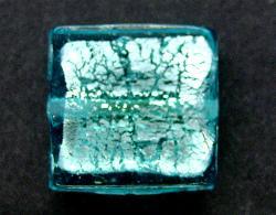 Best.Nr.:64099  handgefertigte Lampenperle  mit eingearbeiteter Silberfolie