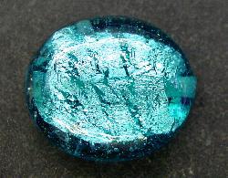 Best.Nr.:64101  handgefertigte Lampenperle Halbkugel  mit eingearbeiteter Silberfolie