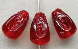 Best.Nr.:63170  Glasperlen in den 1920/30 Jahren in Gablonz/Böhmen hergestellt  rot