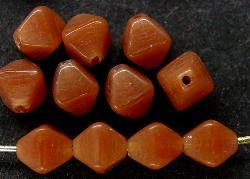 Best.Nr.:54071  Glasperlen  Doppelpyramide vierkantig  alabaster braun