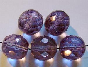 Best.Nr.:28091 facettierte Glasperlen leicht bronziert