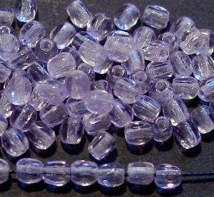 Best.Nr.:27397 facettierte Glasperlen lila hell transp., hergestellt in Gablonz Tschechien