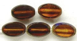Best.Nr.:67071 Glasperlen / Table Cut Beads  Olive geschliffen,  mit Travertin-Veredelung