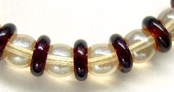 Best.Nr.:68002 Glasperlenkombination rotbraun und hellbraun mit lüster