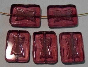 Best.Nr.:671105 Glasperlen / Table Cut Beads geschliffen, violett