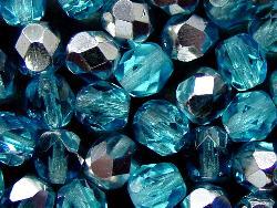 Best.Nr.:28210 facettierte Glasperlen mit silber Veredelung