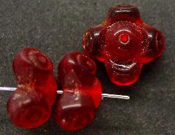 Best.Nr.:63189 Glasperlen in den 1920/30 Jahren in Gablonz/Böhmen hergestellt rot