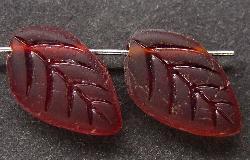 Best.Nr.:63194 Glasperlen in den 1920/30 Jahren in Gablonz/Böhmen hergestellt rot