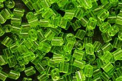 Best.Nr.:19134/100 2 cut beads von Ornella Preciosa Tschechien, hellgrün transp.