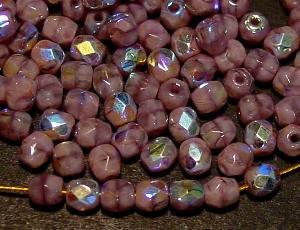 Best.Nr.:28055 facettierte Glasperlen violett Perlettglas mit AB