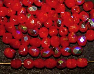 Best.Nr.:28288 facettierte Glasperlen rot Perlettglas mit AB