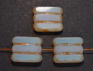 Best.Nr.:67927 Glasperlen / Table Cut Beads moonstone opal, geschliffen mit picasso finish