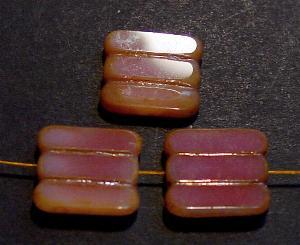 Best.Nr.:671022 Glasperlen / Table Cut Beads Alabasterglas rosa, geschliffen mit picasso finish