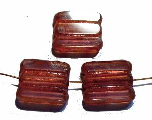 Best.Nr.:671005 Glasperlen / Table Cut Beads transparent altrosa, geschliffen mit picasso finish