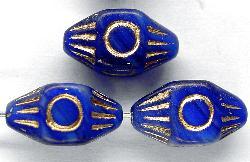 Best.Nr.:59065 Antik style Glasperlen mit Goldauflage, nach alten Vorlagen aus den 1920 Jahren neu gefertigt