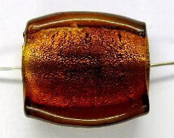 Best.Nr.:64142 handgefertigte Lampenperle mit eingearbeiteter Silberfolie