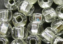 Best.Nr.:11095/200 Rocailles aus Gablonz / Böhmen kristall mit Silbereinzug