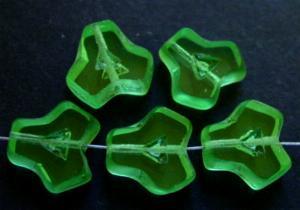 Best.Nr.:67842 Glasperlen / Table Cut Beads geschliffen, Rand der Perlen mattiert, hellgrün transparent