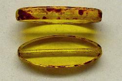 Best.Nr.:67161 Glasperlen / Table Cut Beads geschliffen mit Travertin-Veredelung