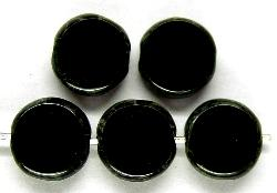 Best.Nr.:67065 Glasperlen / Table Cut Beads geschliffen mit Travertin-Veredelung, hergestellt in Gablonz Tschechien
