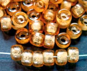 Best.Nr.:52031 Glasperlen topas transparent, hergestellt in Gablonz / Tschechien