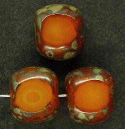 Best.Nr.:67171 Glasperlen / Table Cut Beads geschliffen mit picasso finish