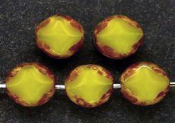 Best.Nr.:67181 Glasperlen / Table Cut Beads geschliffen mit Travertin-Veredelung