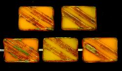 Best.Nr.:67182 Glasperlen / Table Cut Beads geschliffen mit Travertin-Veredelung