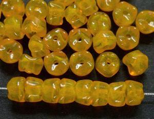 Best.Nr.:63532 Glasperlen mit gezacktem Rand, ähnlich wie bei