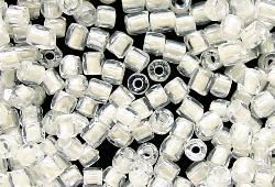 Best.Nr.:18005 3-Cutbeads von Ornella Preciosa Tschechien kristall mit Farbeinzug weiß und lüster