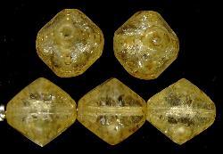 Best.Nr.:27403 geschliffene Glasperlen Multi Cut Beads mit picasso finish