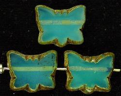 Best.Nr.:67183 Glasperlen / Table Cut Beads geschliffen aus Opalglas  mit Travertin-Veredelung, hergestellt in Gablonz / Tschechien