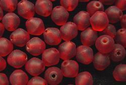 Best.Nr.:41010 Glasperlen bicon rot mattiert (frostet)
