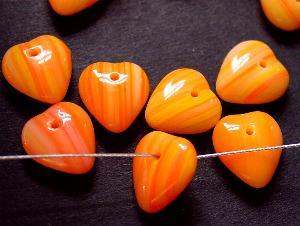 Best.Nr.:s-0038 Glasperlen Glasanh�nger Herz orange meliert